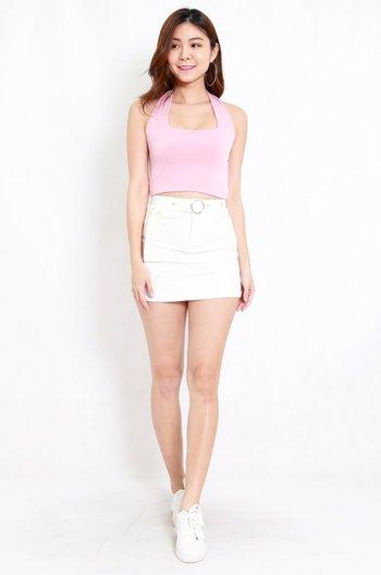 Adrianna Halter Top (Baby Pink)