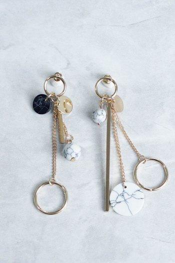 Akita Marble Earrings