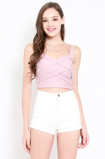 *Premium* Braided Top (Light Pink)