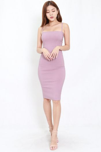 Classic Midi Spag Dress (Lavender)