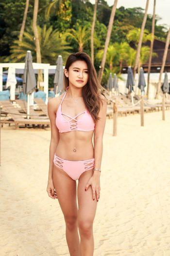 Criss Cross Pink Bikini