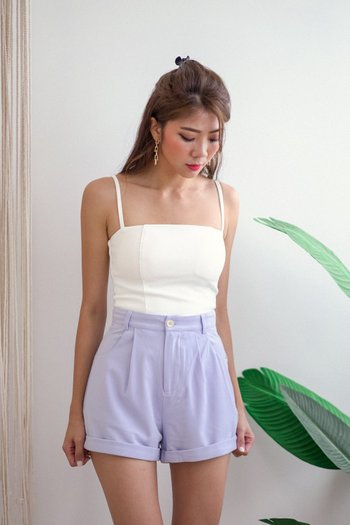 Cassidy High Waist Shorts (Periwinkle)
