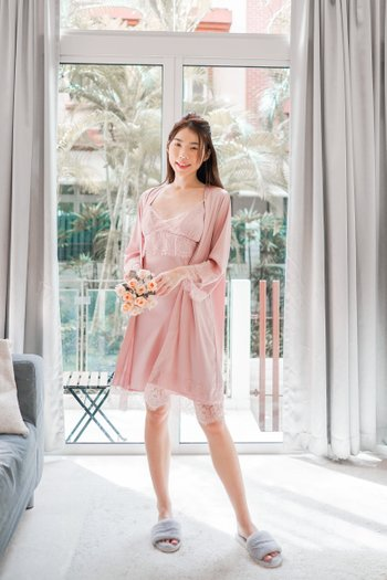 Lanny Lace Sleep Set (Pink)