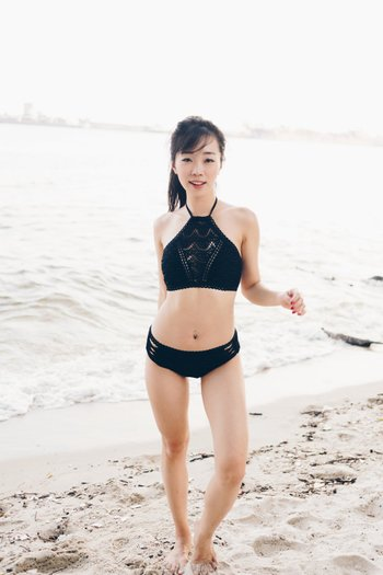 Rila Crochet High Neck Bikini (Black)