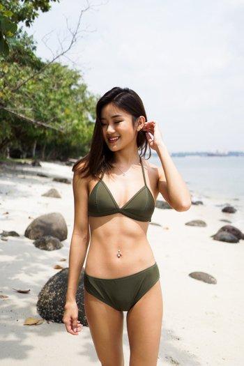 Outline Triangle Bikini (Olive)