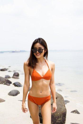 Outline Triangle Bikini (Orange)