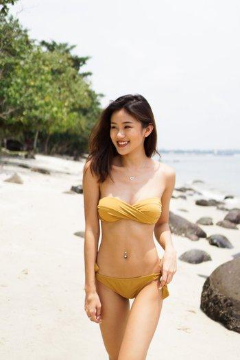Bandeau Twist Bikini (Gold)