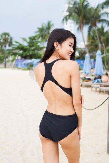 High Neck Netted Monokini (Black)