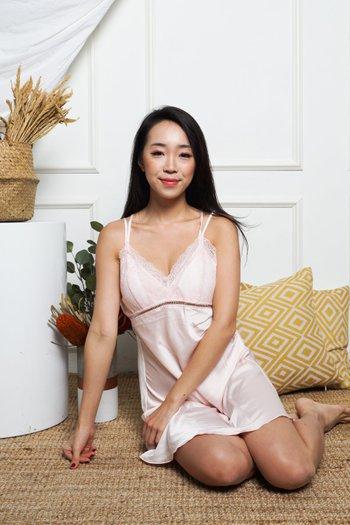 Isha Lace Sleep Dress (Pink)