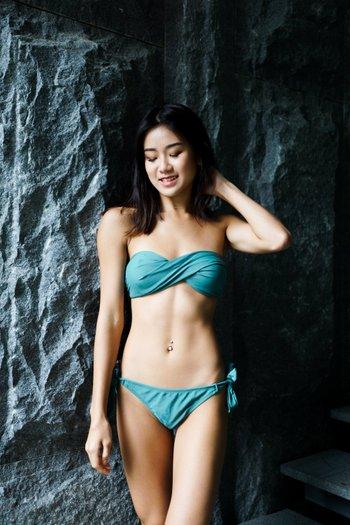 Bandeau Twist Bikini (Teal)