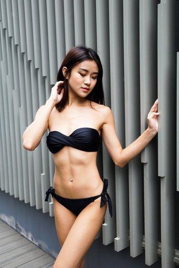 Bandeau Twist Bikini (Black)