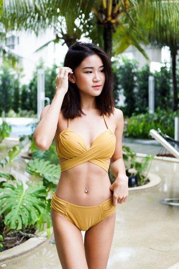 Cross Wrap Bikini (Gold)