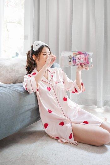 Flutter Hearts Sleep Dress (Big Heart)