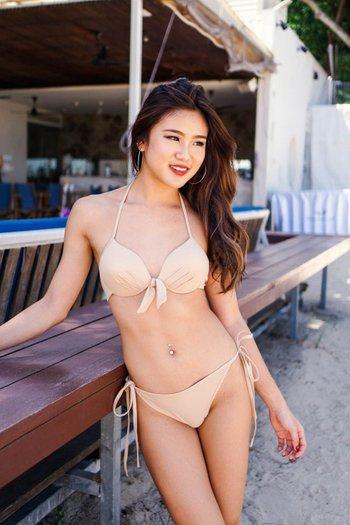 Basic Ribbon Bikini (Nude)