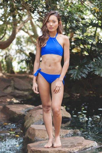 Halter Bikini (Cobalt Blue)