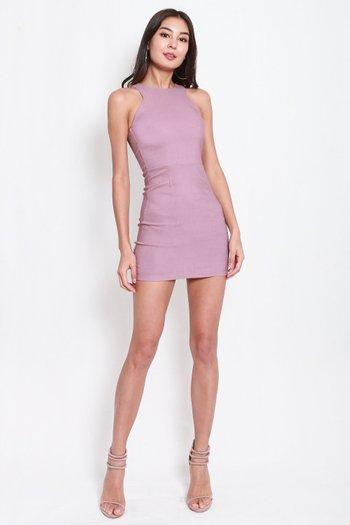 Basic Cut In Dress (Lavender)