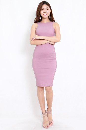 Kathy Midi Dress (Lavender)