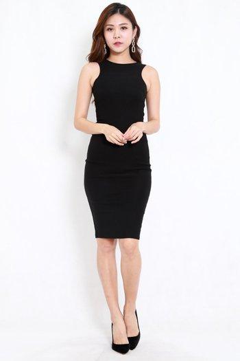 Kathy Midi Dress (Black)