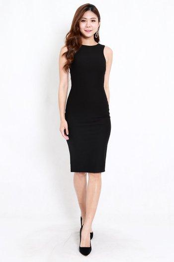*Premium* Kathy Midi Dress (Black)