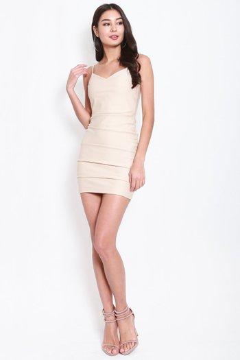 *Premium* Sweetheart Ruch Bodycon Dress (Ivory)
