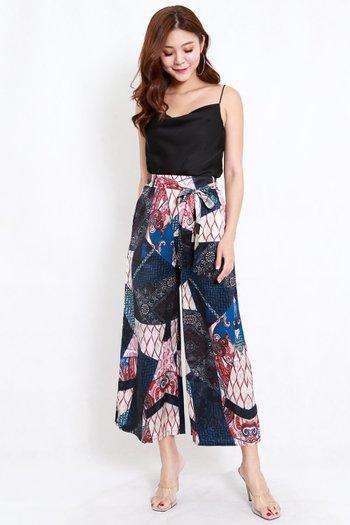 Patchwork Printed Pants