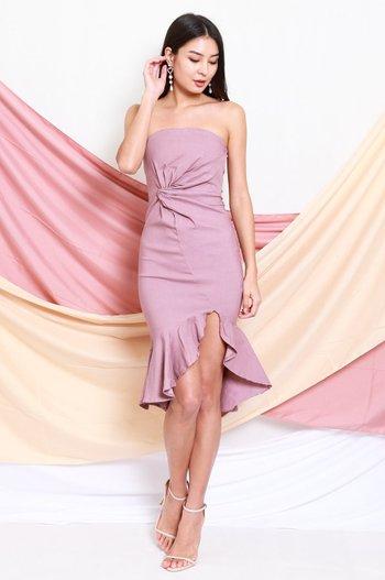 Twist Knot Mermaid Tube Dress (Lavender)