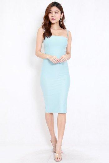 *Premium* Classic Midi Spag Dress (Tiffany Blue)