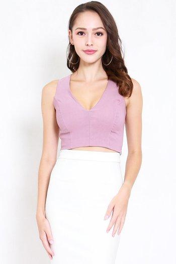 Cassia V Neck Top (Lavender)