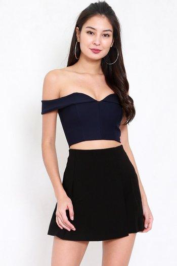 Vienna Flap Skirt (Black)