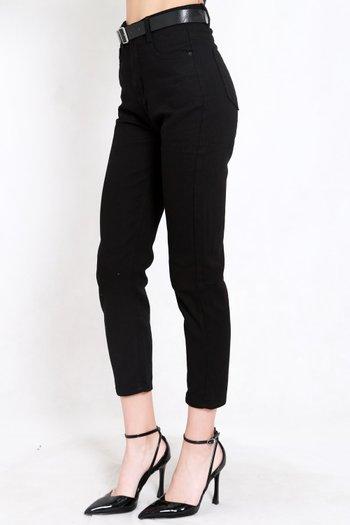 Belted Denim Jeans (Black)