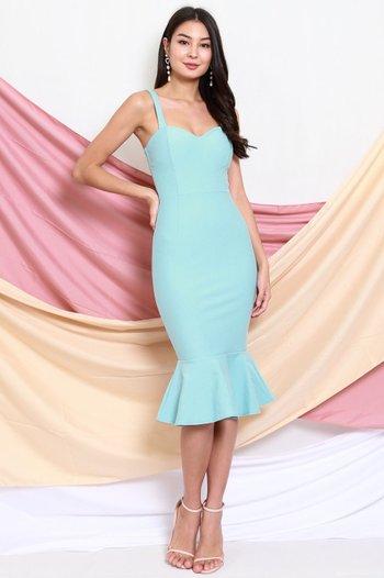 *Premium* Sweetheart Mermaid Dress (Tiffany Blue)