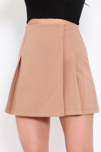 Vienna Flap Skirt (Camel)