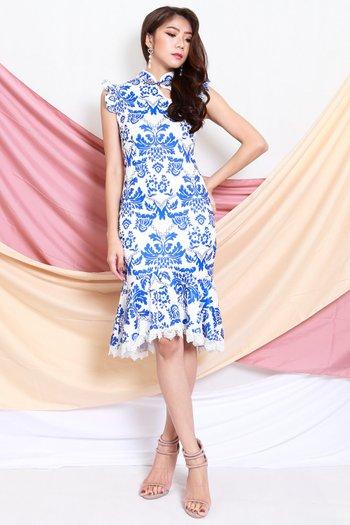 Porcelain Mermaid Cheongsam Dress