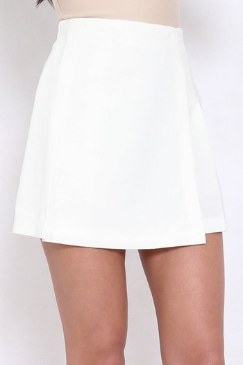 Vienna Flap Skirt (White)