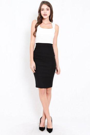 *Premium* Pencil Midi Skirt (Black)