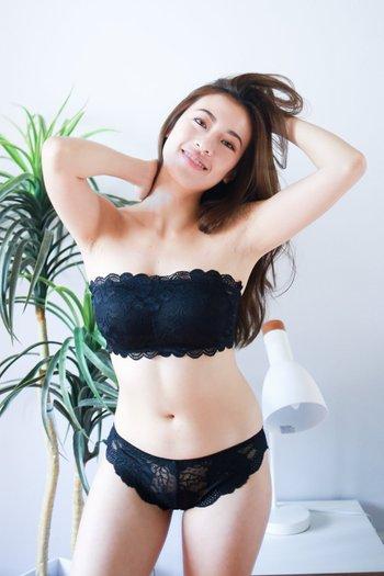Rosette Lace Hooked Bra (Black)