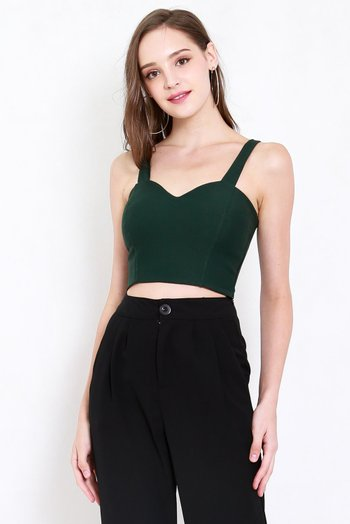 *Premium* Classic Sweetheart Top (Forest Green)