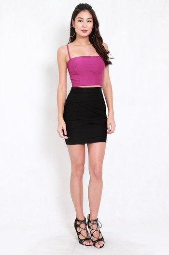 *Premium* Criss Cross Bandage Skirt (Black)