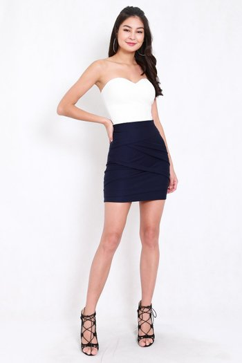 *Premium* Criss Cross Bandage Skirt (Navy)