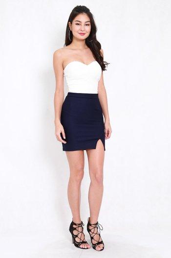 *Premium* Slit Bandage Skirt (Navy)