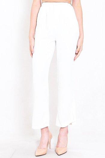 Reila Flowy Work Pants (White)