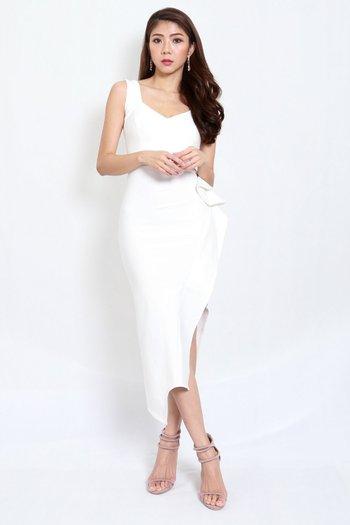 *Premium* Mystic Asymmetrical Dress (White)