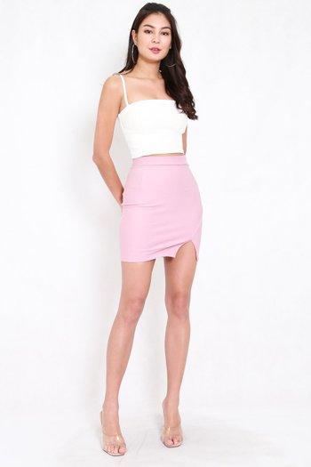 *Premium* Slit Bandage Skirt (Light Pink)