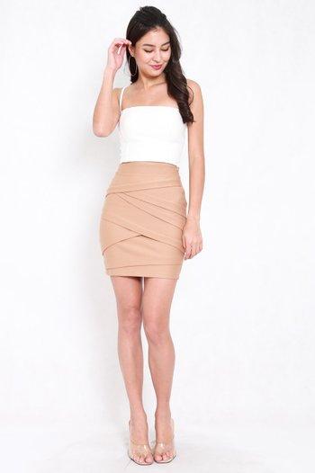 *Premium* Criss Cross Bandage Skirt (Skin-Nude)