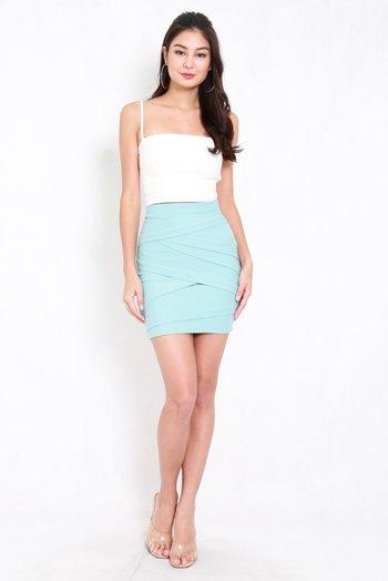 *Premium* Criss Cross Bandage Skirt (Tiffany Blue)