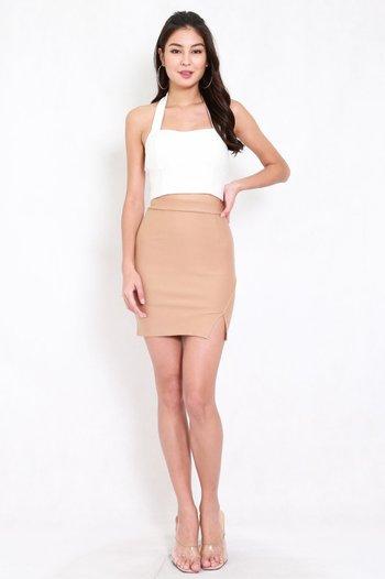 *Premium* Slit Bandage Skirt (Skin-Nude)