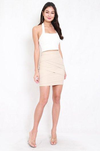 *Premium* Criss Cross Bandage Skirt (Ivory)
