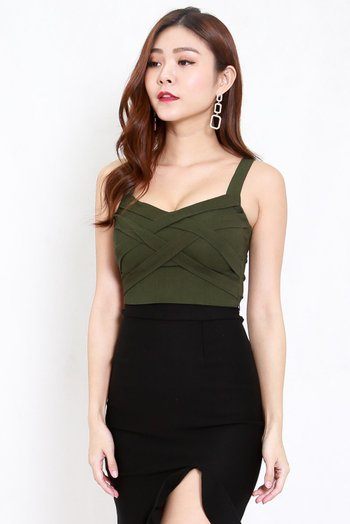 Braided Top (Olive)