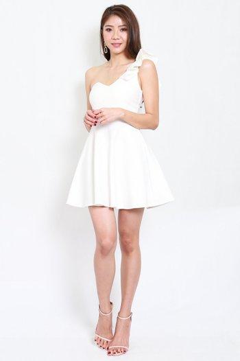 *Premium* Tisha Toga Skater Dress (White)