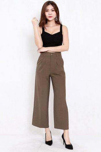 Indika Tailored Pants (Olive Brown)